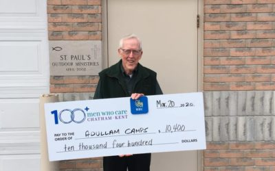 Adullam Camps Cheque Presentation and Spring Meeting Update